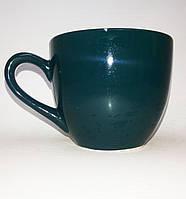 Кружка детская цветная глазурь - темно зеленаая 250 мл.