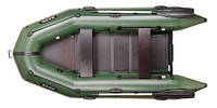 BT-310 BARK моторная лодка надувная ПВХ трехместная плоскодонная со встроенным транцем