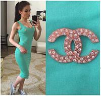 """Женское Платье - майка длинное """"Chanel"""" р. 42,44,46,48 - мята"""