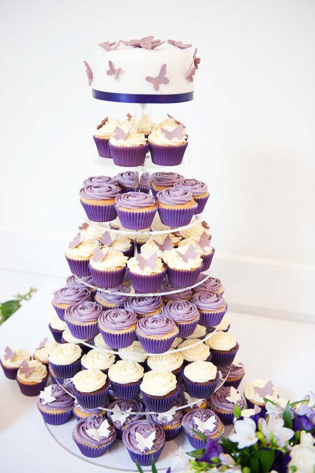 торт на свадьбу из капкейков