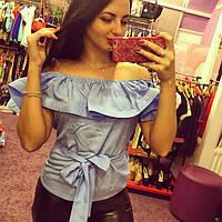 Блуза женская Яна голубая , женская одежда