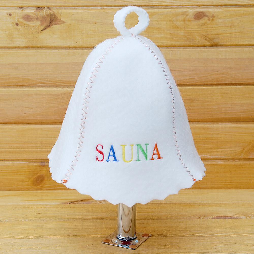 """Шапка в сауну G """"Sauna цветная"""""""