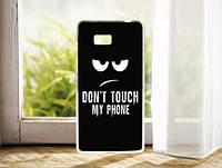 Силиконовый чехол накладка для HTC Desire 600 с картинкой don't touch