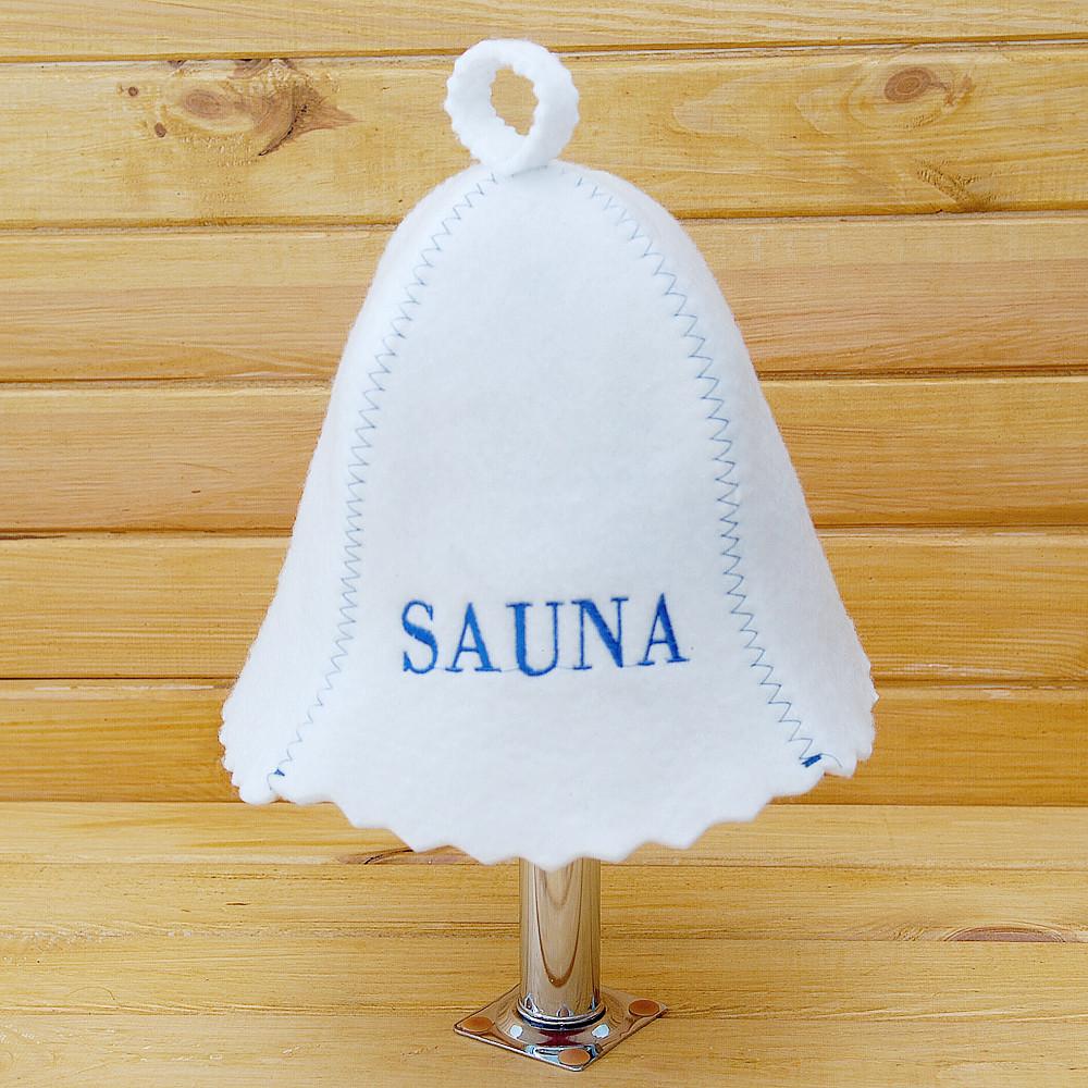 """Шапка в сауну G """"Sauna синяя"""""""