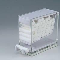 Диспенсер для ватных валиков автоматический белый