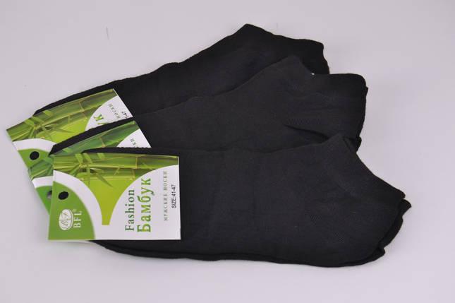 Мужские носки Fashion Бамбук заниженные Черные (A210-1)   12 пар, фото 2