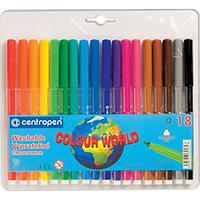 """Фломастеры """"Centropen"""" 18 цветов  Color World №7550/18"""