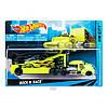 Hot Wheels BDW51  Машина дальнобойщика+гоночная машинка