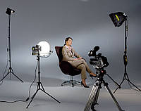 Видеосъемка интервью с дополнительным оборудованием