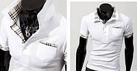 Мужская футболка поло - белая