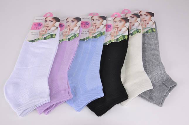 Женские носки заниженные Бамбук (WE146) | 12 пар, фото 2
