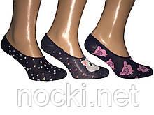 """Шкарпетки жіночі сліди кольорові мікрофібра """"Calze moda"""""""
