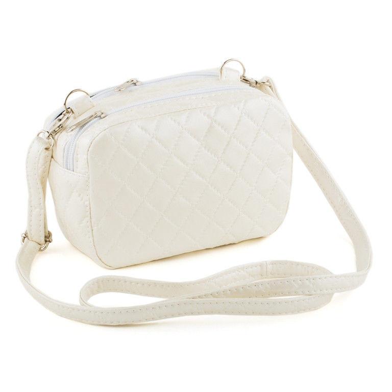 ccfead43a917 Маленькая сумка на плечо Cash белая - Интернет–магазин «Nona–style» в