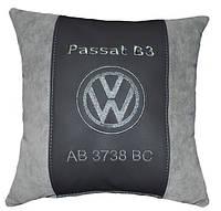 Сувенирная подушка в авто с логотипом WV