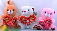Мягкие игрушки (медведь,заяц)