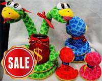 Мягкая игрушка-копилка Змея 25см