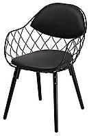 Кресло металлическое Вики Dom,цвет черный