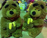 Мягкая игрушка озвученная медведь с бочкой мёда
