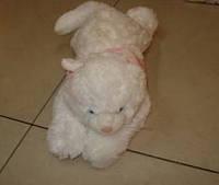 Мягкая игрушка озвученная Кот белый пушистый