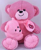 Мягкая игрушка Медведь с ребенком 35см (сирень)
