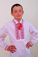 """Вышиванка детская """"Остап"""" красный, ткань поплин"""