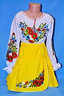 Стильная детская вышитая блузка