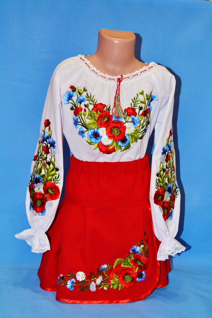 Модная детская юбка с вышивкой