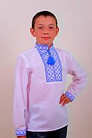"""Вышиванка детская """"Руслан"""" (синий и красный), ткань поплин"""