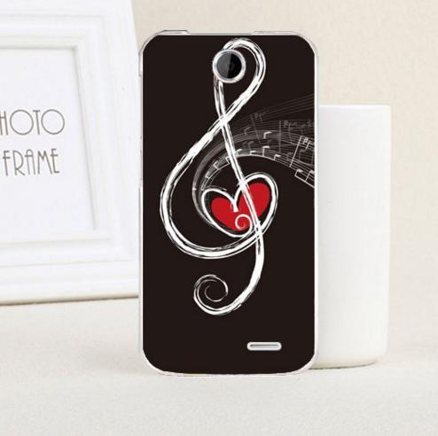 Силиконовый чехол накладка для HTC Desire 310 с картинкой скрипичный ключ