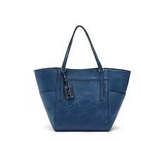 Большая женская сумка MANGO синего и розового цвета