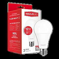 Светодиодная лампа MAXUS Р 12Вт A65 E27