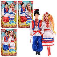 Набор кукол Украинская семья, музыкальные, 30 см, 4 вида, арт. М 2385 HN