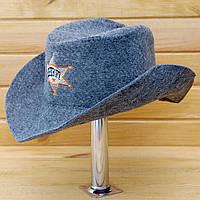 """Шляпа для бани G """"Шериф"""" серая"""