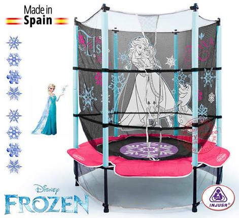 Батут с защитной сеткой Frozen 1,4 m Холодное серце Injusa 20888, фото 2