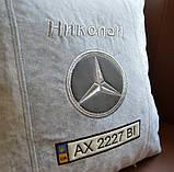 Подушка сувенирная с маркой авто мерседес Mercedes, фото 2