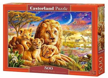 Пазлы Castorland Семья львов 2134, 500 элементов