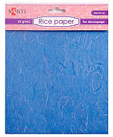 Рисовая бумага, голубая, 50*70 см