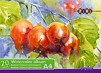 Альбом-планшет для акварели А4 20л