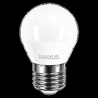 Набор! Светодиодная лампа MAXUS 4Вт G45 F E27 3 шт Нейтральный белый 4100К