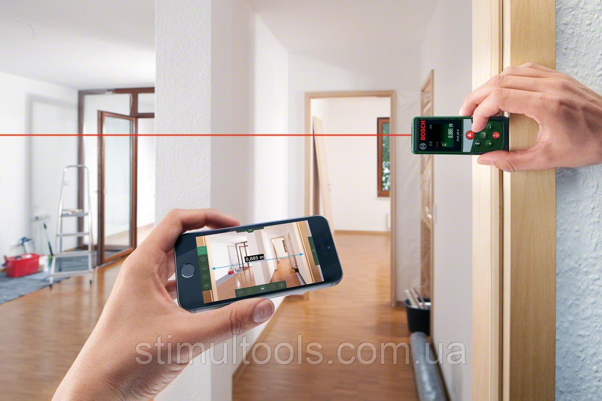 Bosch Entfernungsmesser App : Bosch digitaler laser entfernungsmesser plr c mit app funktion