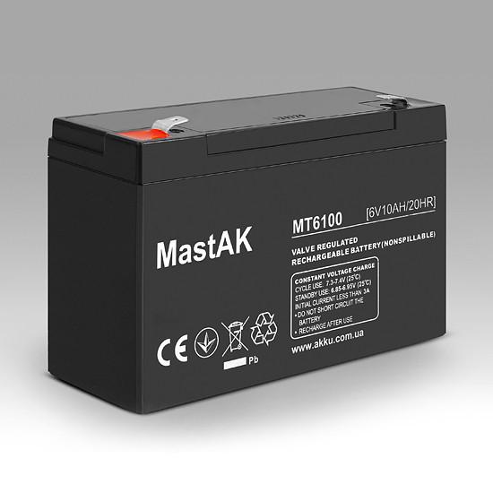 Аккумулятор MastAK MT6100 6V 10Ah