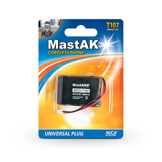 Аккумулятор MastAK T107 (T301) 3,6V 400mAh