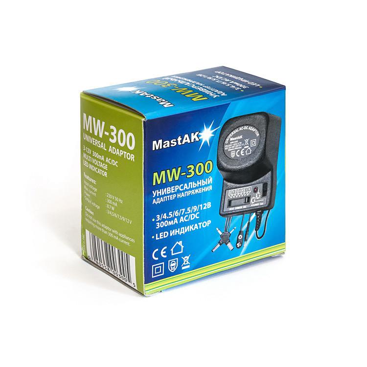 Универсальный блок питания 3-12V 300mAh MastAK MW-300