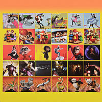 Блокнот с наклейками (Ну погоди, Элвин и бурундуки, Суперсемейка, Железный человек, Панда Кунг-фу) по 6 шт.