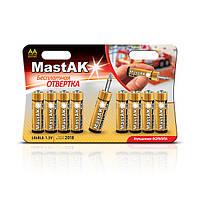 Батарейка MastAK PREMIUM Alcaline AA/LR6 + отвертка, фото 1