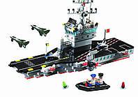 Конструктор Военный корабль, авианосец 508 деталей Brick 826 SR