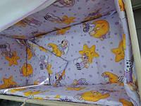 Детское постельное белье в кроватку(на резинке)