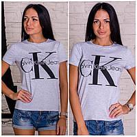 """Женская стильная футболка """"Calvin Klein"""" в расцветках, фото 1"""