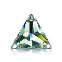 Стразы пришивные Asfour Треугольник 18мм. Crystal