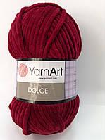 Пряжа dolce - цвет бордовый